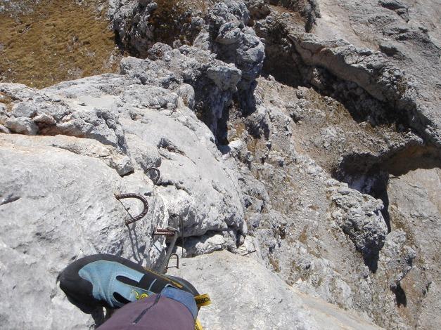 Foto: Manfred Karl / Klettersteig Tour / Klettersteig Sinabell / Im markanten Steilaufschwung des Jubiläumssteiges / 08.12.2009 19:10:46