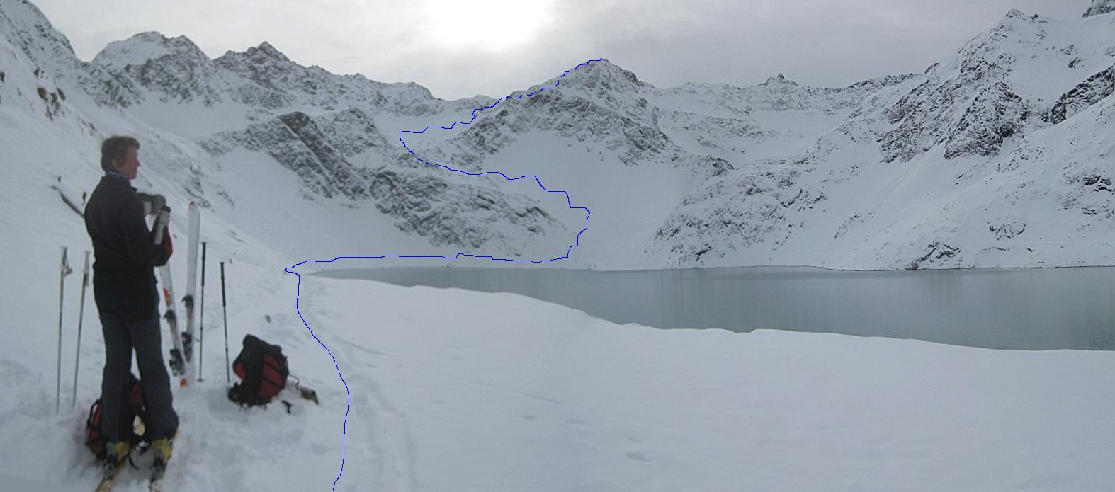 Foto: Wolfgang Lauschensky / Ski Tour / Finstertaler Schartenkopf 2856m / Anstieg / 10.12.2009 21:02:29