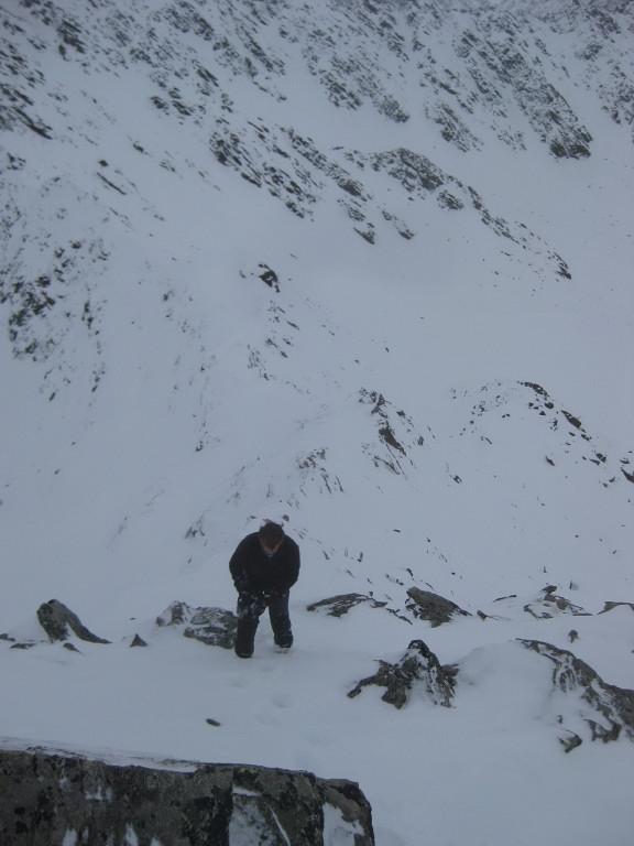 Foto: Wolfgang Lauschensky / Ski Tour / Finstertaler Schartenkopf 2856m / Der Ostgratanstieg ist bei unsicherer Lage dem Südosthang zu bevorzugen. / 10.12.2009 21:00:50