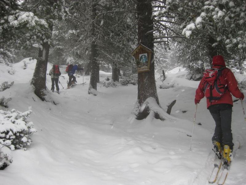 Foto: Wolfgang Lauschensky / Ski Tour / Faltegartenköpfl 2184m / oberhalb der Feldringalm / 10.12.2009 22:10:21