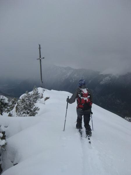 Foto: Wolfgang Lauschensky / Ski Tour / Faltegartenköpfl 2184m / am Gipfelkamm / 10.12.2009 22:09:32