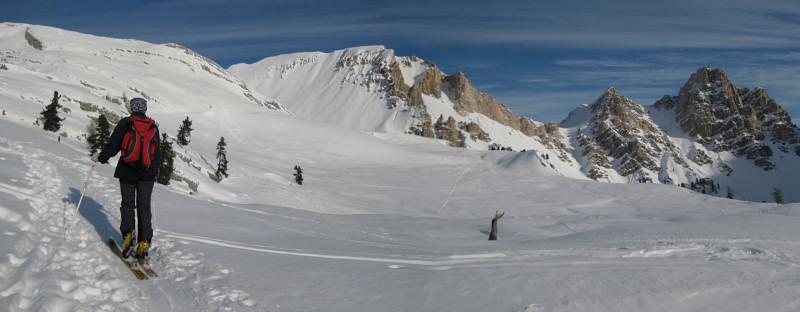 Foto: Wolfgang Lauschensky / Ski Tour / Monte Sella di Fanes - Fanessattelspitze oder St.Antonispitze 2655m / am Plan de Salines Richtung Antonital / 11.12.2009 09:42:04