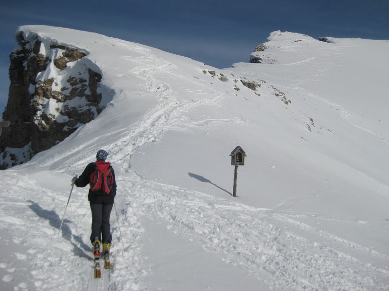 Foto: Wolfgang Lauschensky / Ski Tour / Monte Sella di Fanes - Fanessattelspitze oder St.Antonispitze 2655m / Vom Fanessattel zur Antonispitze / 11.12.2009 09:41:12