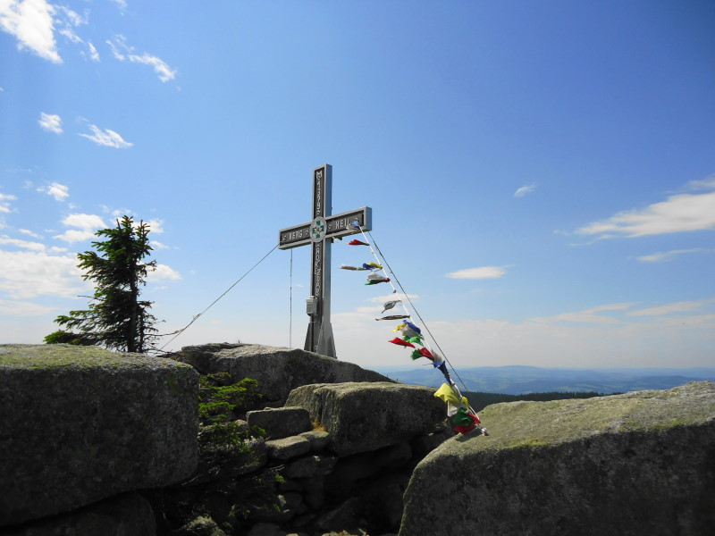 Foto: Günter Siegl / Wander Tour / Dreiländerwanderung / Gipfel Plöckenstein / 17.07.2017 22:48:31
