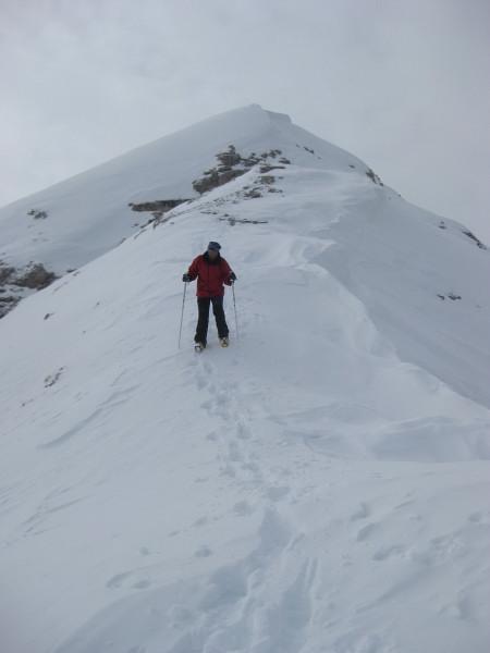 Foto: Wolfgang Lauschensky / Ski Tour / Äußere Eisengabelspitze = Dont de Furcia dai Fers de Fora 2534m / bei Firnverhältnissen auch mit Schi befahrbar / 11.12.2009 20:54:46