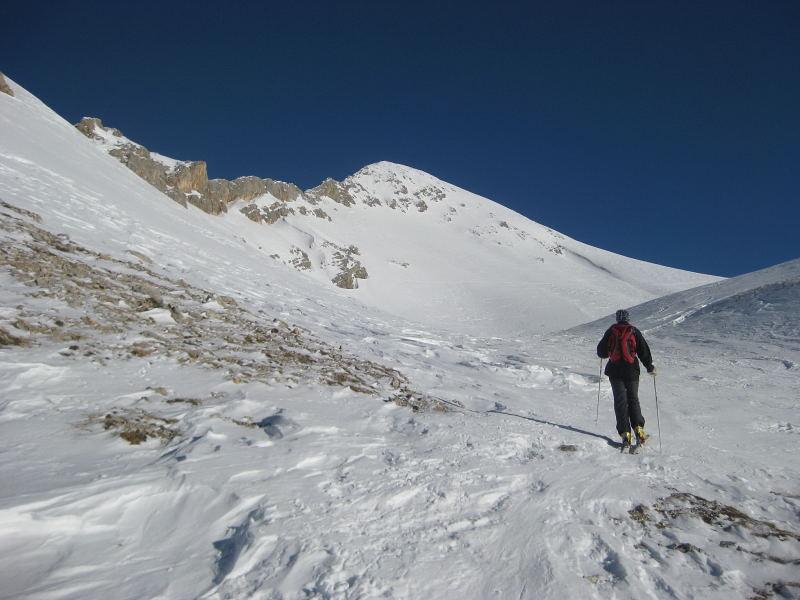 Foto: Wolfgang Lauschensky / Ski Tour / Pareispitze oder Col Bechei Dessora 2794m / nach der Steilstufe / 12.12.2009 12:02:53