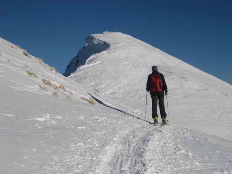 Foto: Wolfgang Lauschensky / Ski Tour / Pareispitze oder Col Bechei Dessora 2794m / Gipfelgrat / 12.12.2009 12:02:08