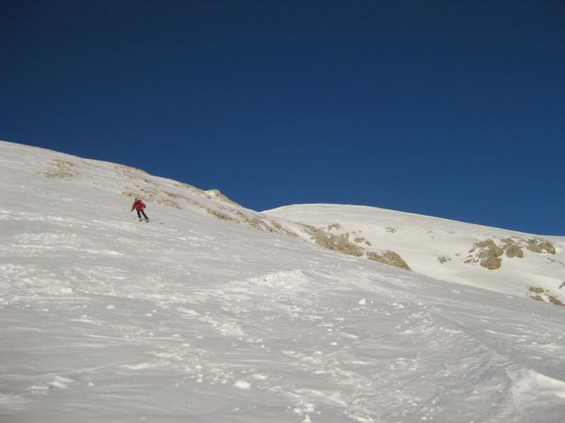 Foto: Wolfgang Lauschensky / Ski Tour / Pareispitze oder Col Bechei Dessora 2794m / Gipfelsüdhang / 12.12.2009 12:01:47