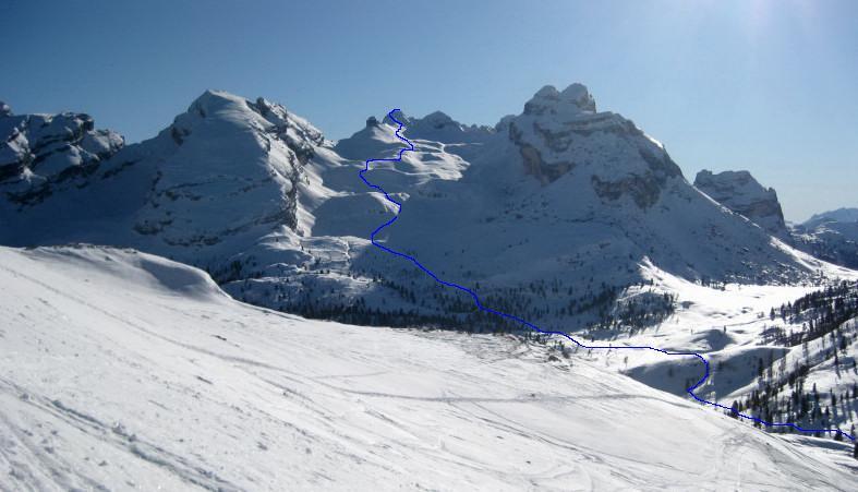 Foto: Wolfgang Lauschensky / Ski Tour / Monte Casale 2707m (oder Bivaccio di Monte Castello) / das Vallon bianco / 12.12.2009 14:53:11