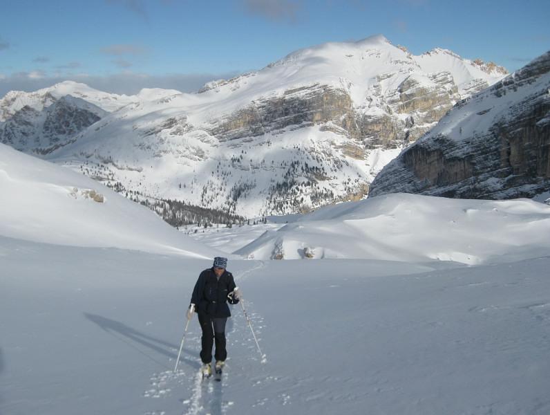 Foto: Wolfgang Lauschensky / Ski Tour / Monte Casale 2707m (oder Bivaccio di Monte Castello) / Col Bechei aus dem Vallon bianco / 12.12.2009 14:52:39