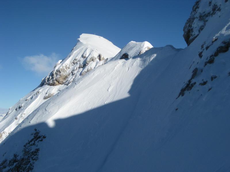 Foto: Wolfgang Lauschensky / Ski Tour / Monte Casale 2707m (oder Bivaccio di Monte Castello) / unter der Casalescharte mit Blick zum Monte Casale (beim Versuch der Monte Cavallobesteigung) / 12.12.2009 14:51:57