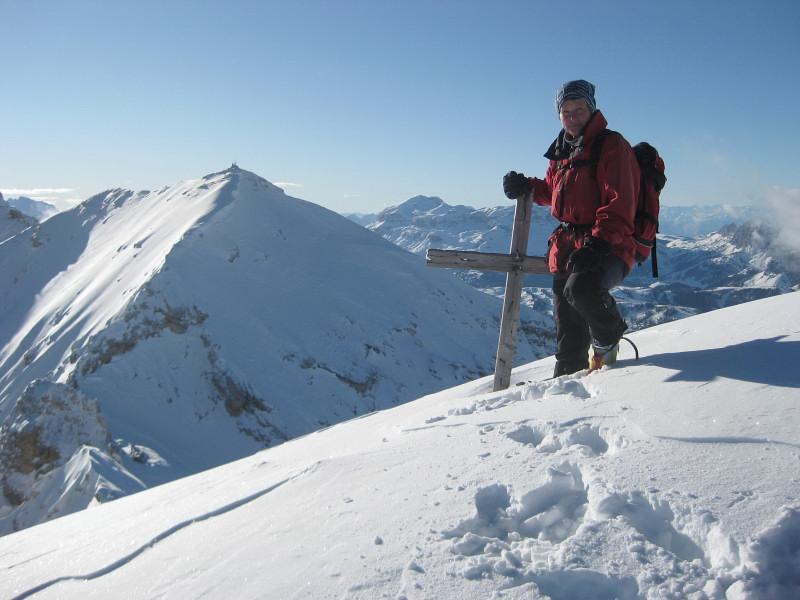 Foto: Wolfgang Lauschensky / Ski Tour / Monte Casale 2707m (oder Bivaccio di Monte Castello) / Casalegipfel: Blick in die Casalescharte und auf den Monte Cavallo / 12.12.2009 14:51:06