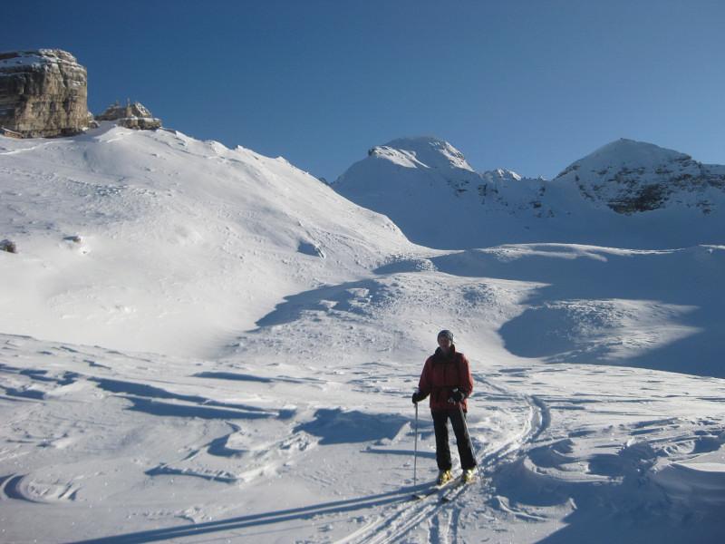Foto: Wolfgang Lauschensky / Ski Tour / Monte Casale 2707m (oder Bivaccio di Monte Castello) / milde Abfahrt aus dem Vallon bianco / 12.12.2009 14:50:12
