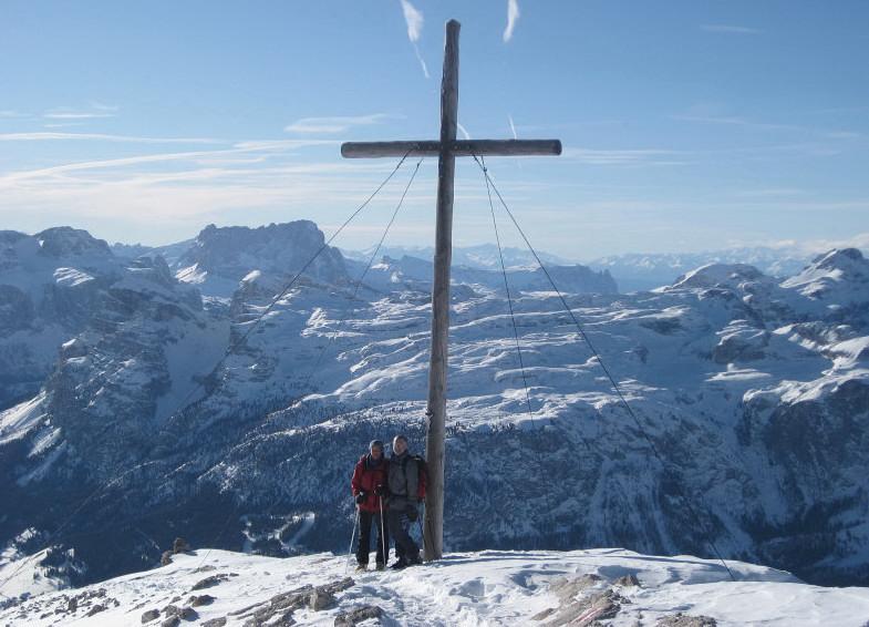 Foto: Wolfgang Lauschensky / Ski Tour / Heiligkreuzkofel 2907m (Piz dal Ciaval) / Heiligkreuzkofel / 12.12.2009 15:44:07