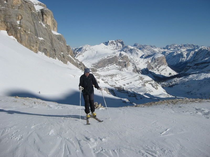 Foto: Wolfgang Lauschensky / Ski Tour / Lavarella 3055m (La Varella) / Hochtal Busc da Stlü / 12.12.2009 16:53:03