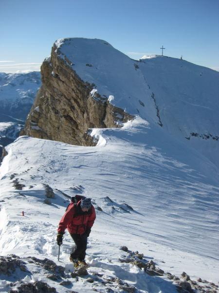 Foto: Wolfgang Lauschensky / Ski Tour / Lavarella 3055m (La Varella) / Lavarella-Westgipfel / 12.12.2009 16:52:07