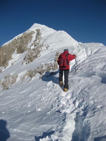 Foto: Wolfgang Lauschensky / Ski Tour / Lavarella 3055m (La Varella) / Westgratanstieg / 12.12.2009 16:51:57