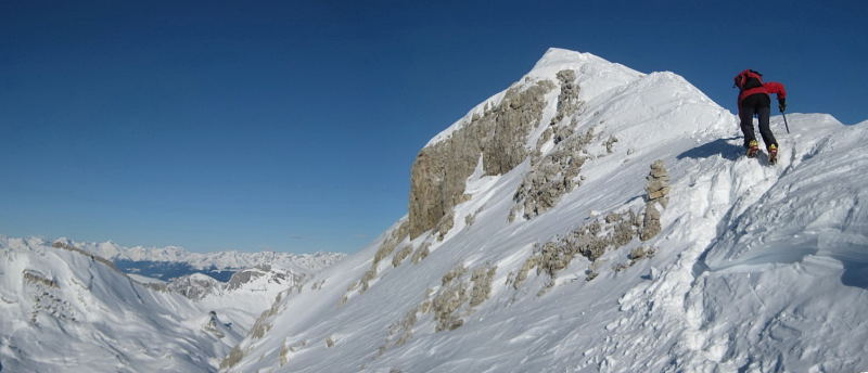 Foto: Wolfgang Lauschensky / Ski Tour / Lavarella 3055m (La Varella) / Lavarellawestgrat / 12.12.2009 16:51:47