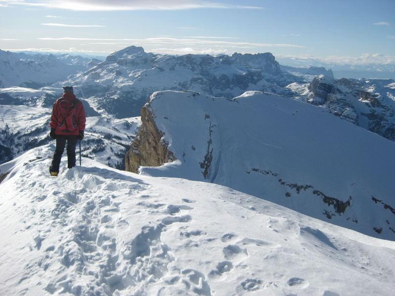 Foto: Wolfgang Lauschensky / Ski Tour / Lavarella 3055m (La Varella) / Sella hinter Lavarella-Westgipfel / 12.12.2009 16:50:26