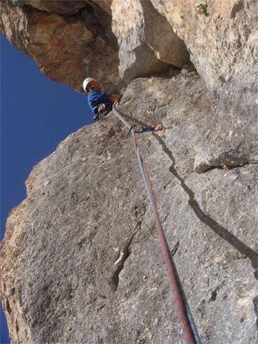 Foto: schrutkaBua / Kletter Tour / Rote Wand, Winterfit / 6. Seillänge / 12.12.2009 17:06:17