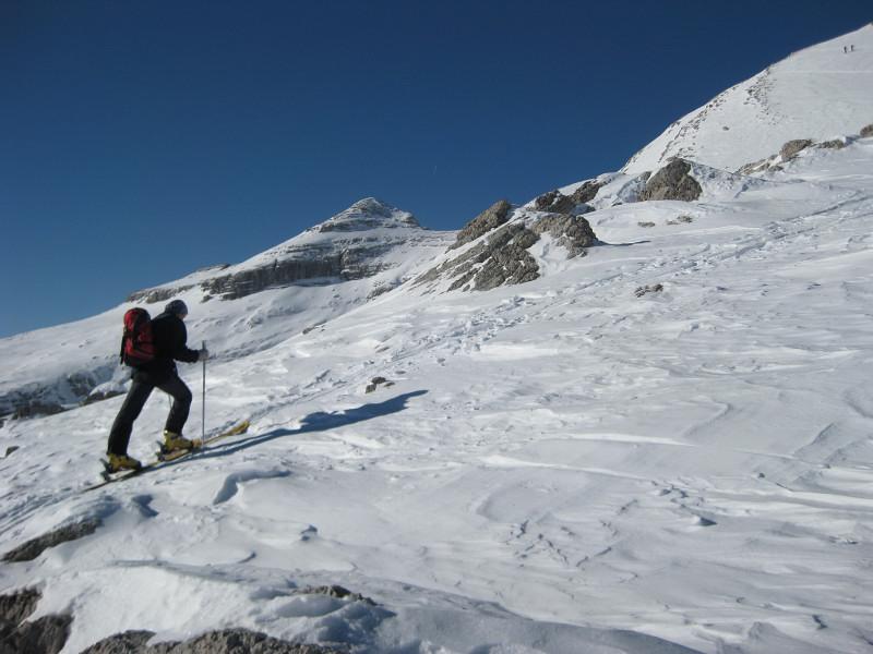 Foto: Wolfgang Lauschensky / Ski Tour / Zehnerspitze 3026m, (Sasso delle Dieci) / Heilgkreuzkofel / 12.12.2009 18:47:06