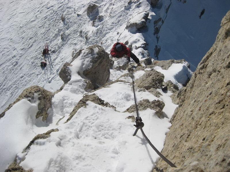 Foto: Wolfgang Lauschensky / Ski Tour / Zehnerspitze 3026m, (Sasso delle Dieci) / Klettersteigeinstieg / 12.12.2009 18:46:11