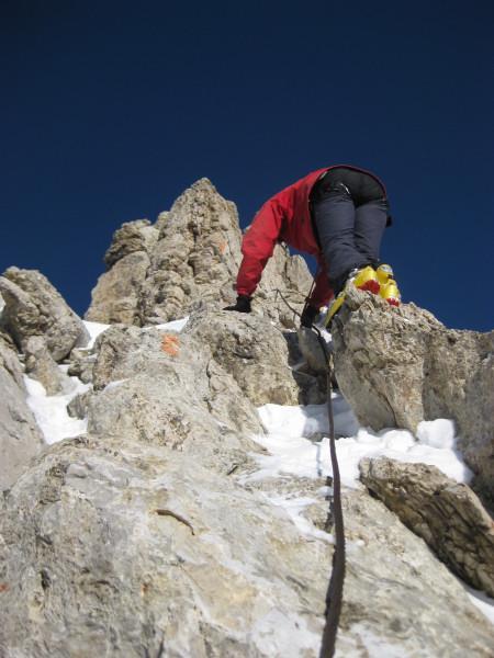 Foto: Wolfgang Lauschensky / Ski Tour / Zehnerspitze 3026m, (Sasso delle Dieci) / griffiger Fels / 12.12.2009 18:45:04