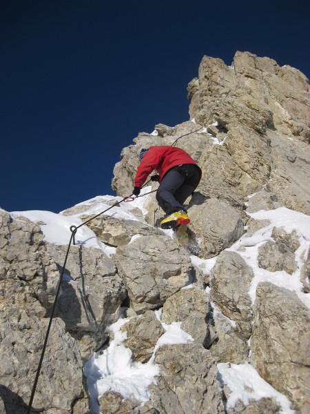 Foto: Wolfgang Lauschensky / Ski Tour / Zehnerspitze 3026m, (Sasso delle Dieci) / das Tüpfelchen auf dem i einer schönen Schitour / 12.12.2009 18:44:53
