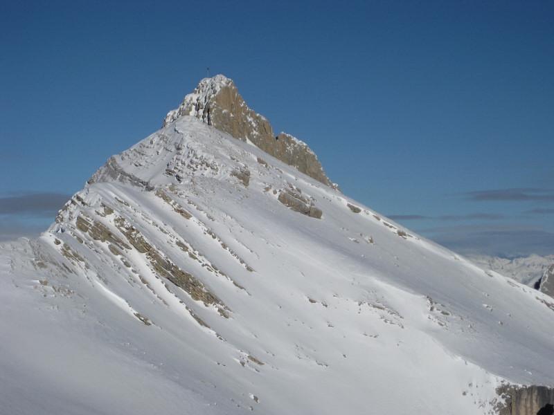 Foto: Wolfgang Lauschensky / Ski Tour / Zehnerspitze 3026m, (Sasso delle Dieci) / Zehner vom Heiligkreuzkofel aus gesehen / 12.12.2009 18:44:25