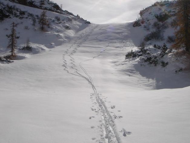 Foto: Manfred Karl / Ski Tour / Von der Winklmoosalm zur Steinplatte / Abfahrtsvariante Nordseite / 13.12.2009 17:35:09
