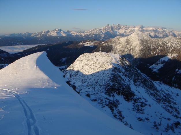 Foto: Manfred Karl / Ski Tour / Von Zauchensee auf das Tagweideck / Blick zum Dachstein / 17.12.2009 20:23:53