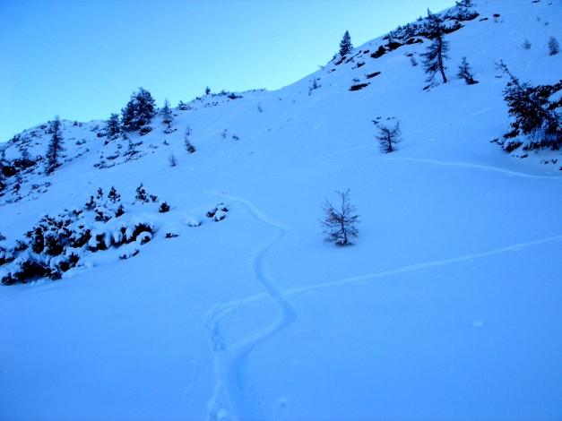 Foto: Manfred Karl / Ski Tour / Von Zauchensee auf das Tagweideck / Abfahrt vom Tagweideck / 17.12.2009 20:23:12