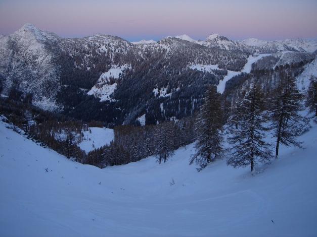 Foto: Manfred Karl / Ski Tour / Von Zauchensee auf das Tagweideck / Letztes Abendlicht / 17.12.2009 20:21:50