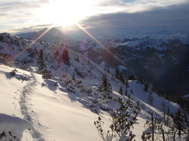 Foto: Manfred Karl / Ski Tour / Von Flachauwinkl auf den Vorderkogel / Abendstimmung / 17.12.2009 20:27:57