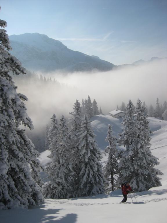 Foto: Wolfgang Lauschensky / Ski Tour / Pfaffenkegel 1837m, Torrenerjoch / Königsbergalm vor Watzmann (Hocheck) / 16.12.2009 18:48:54