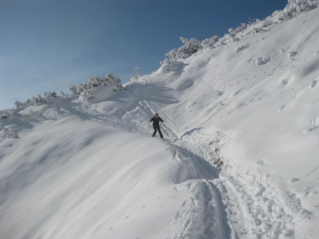 Foto: Wolfgang Lauschensky / Ski Tour / Pfaffenkegel 1837m, Torrenerjoch / Fellabfahrt zum Stahlhaus / 16.12.2009 18:48:41