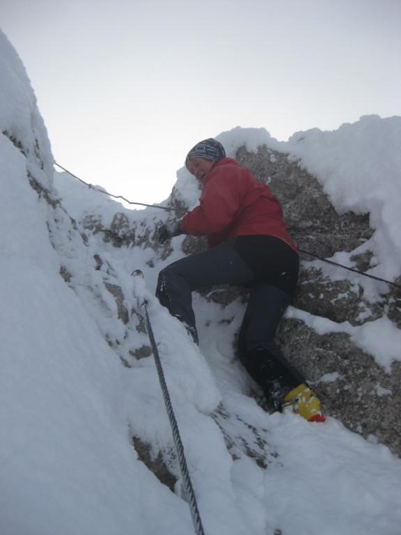 Foto: Wolfgang Lauschensky / Ski Tour / Pfaffenkegel 1837m, Torrenerjoch / Winterklettersteig / 16.12.2009 18:47:13