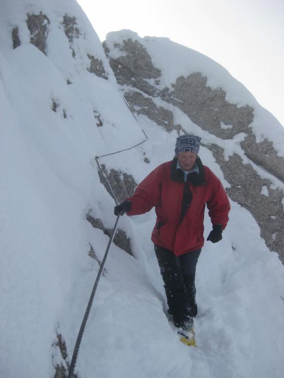 Foto: Wolfgang Lauschensky / Ski Tour / Pfaffenkegel 1837m, Torrenerjoch / die westseitige Querung zum felsigen Gipfelaufstieg / 16.12.2009 18:46:30