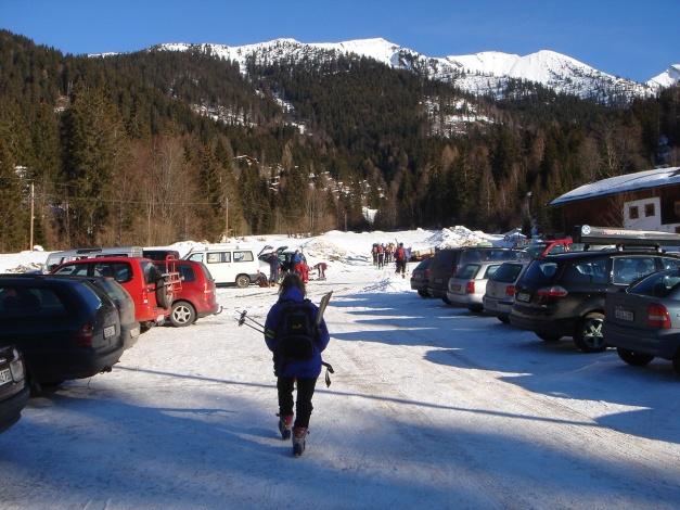 Foto: Manfred Karl / Ski Tour / Hirscheck aus dem Heutal / Der übliche Hochbetrieb im Heutal / 20.12.2012 20:56:19