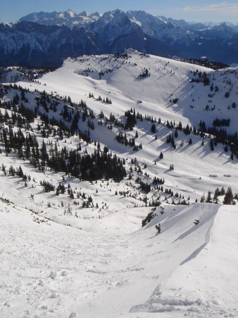 Foto: Manfred Karl / Ski Tour / Hirscheck aus dem Heutal / Hirscheckrinne / 20.12.2012 20:55:18