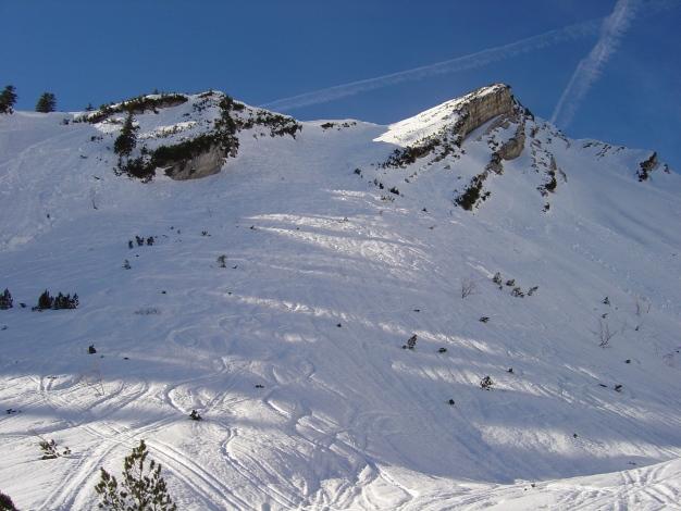Foto: Manfred Karl / Ski Tour / Hirscheck aus dem Heutal / Rückblick Ostrinne / 20.12.2012 20:54:42