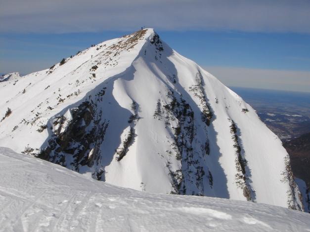 Foto: Manfred Karl / Ski Tour / Hirscheck aus dem Heutal / Vorderlahnerkopf vom Hirscheck / 20.12.2012 20:53:52