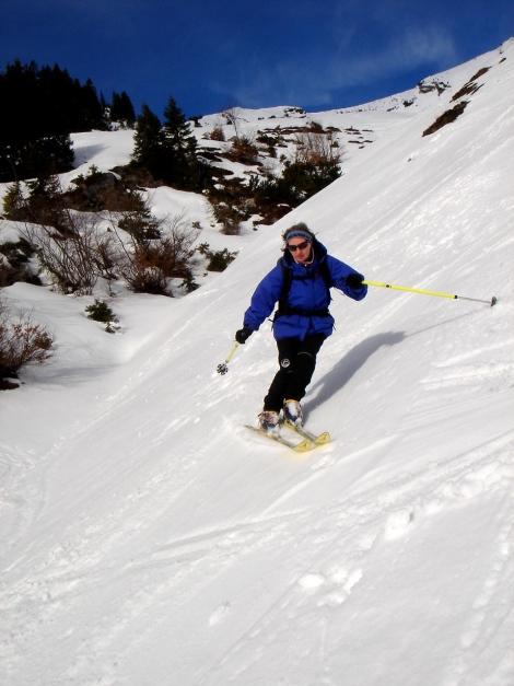 Foto: Manfred Karl / Ski Tour / Hirscheck aus dem Heutal / Abfahrt im herrlichen Firn, unterer Teil Südrücken Hirscheck / 20.12.2012 20:53:01