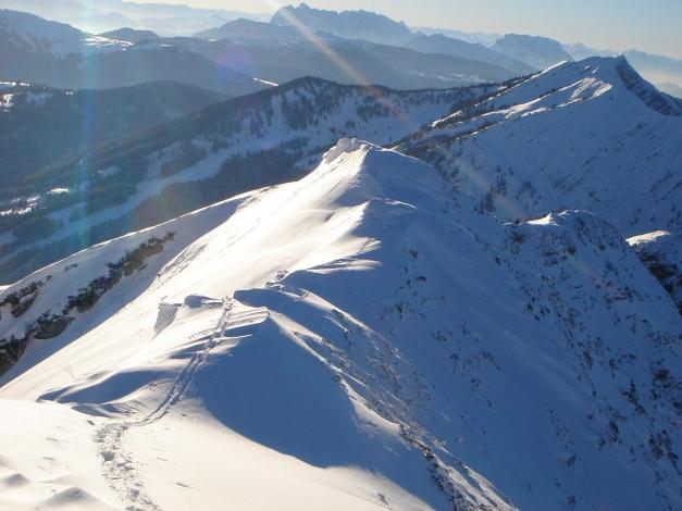 Foto: Manfred Karl / Ski Tour / Schwarzlahnerkopf / Gipfelgrat / 18.12.2009 21:22:32