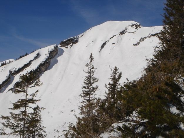 Foto: Manfred Karl / Ski Tour / Schwarzlahnerkopf / Schwarzlahner mit SO-Flanke, die bei sicheren Verhältnissen eine spritzige Abfahrt bietet. / 18.12.2009 21:20:59