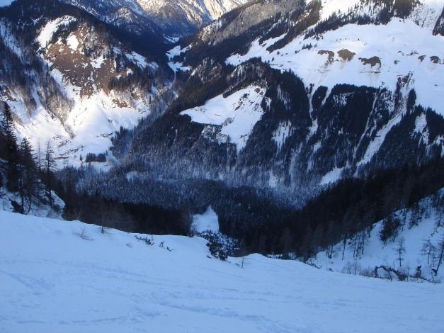 Foto: Manfred Karl / Ski Tour / Kühkranz / Im mittleren Teil des Nordkares / 19.12.2009 14:36:27