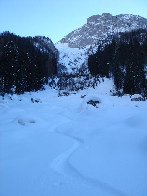 Foto: Manfred Karl / Ski Tour / Kühkranz / Rückblick auf das Nordkar zw. Küh- und Hochkranz / 19.12.2009 14:35:55
