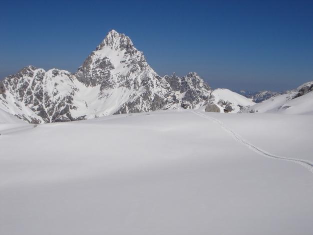 """Foto: Manfred Karl / Ski Tour / Hundstodreib´n """"von hint´ her"""" / Watzmann Südspitze / 24.12.2009 22:39:01"""