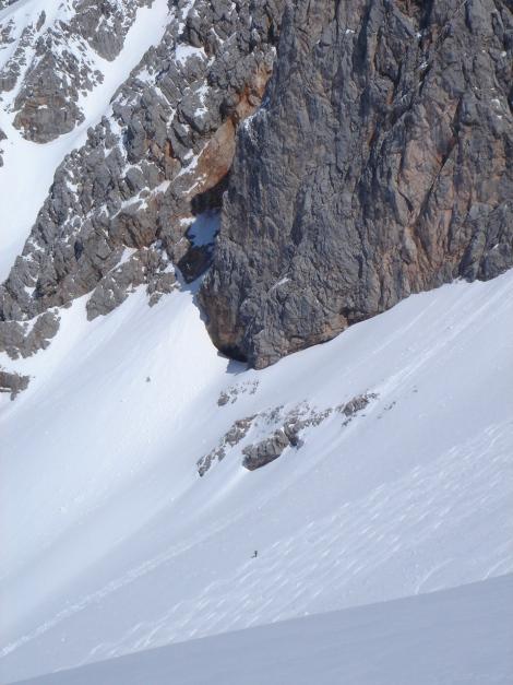 """Foto: Manfred Karl / Ski Tour / Hundstodreib´n """"von hint´ her"""" / Abfahrt in die Hochwies / 24.12.2009 22:35:27"""