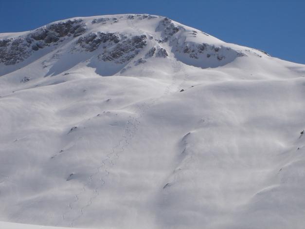 """Foto: Manfred Karl / Ski Tour / Hundstodreib´n """"von hint´ her"""" / Abfahrt vom Diesbacheck / 19.12.2009 15:49:40"""